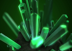 Crystals free video background